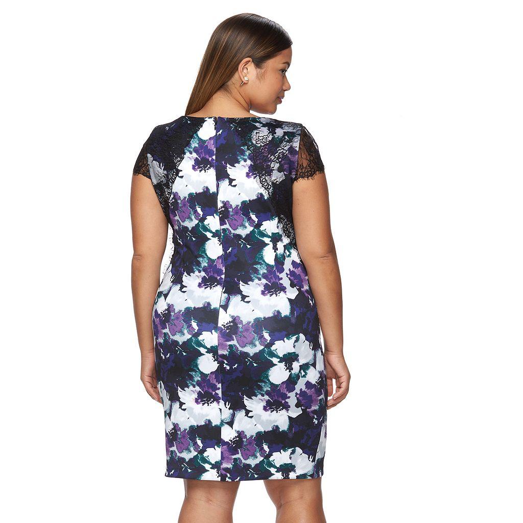 Plus Size Chaya Floral Sheath Party Dress
