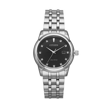 Citizen Eco-Drive Men's Diamond Stainless Steel Watch - BM7340-55E