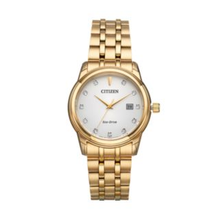 Citizen Eco-Drive Men's Diamond Stainless Steel Watch