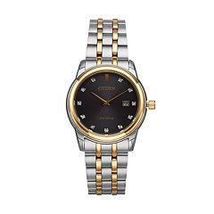 Citizen Eco-Drive Men's Diamond Stainless Steel Watch