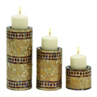 New Traditional Mosaic Candle Holder 3-piece Set