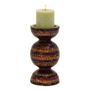 New Traditional Multicolor Mosaic Pillar Candle Holder