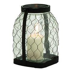Farmhouse Large Jar Lantern Candle Holder