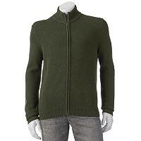 Big & Tall Croft & Barrow® Classic-Fit 5GG Ribbed Full-Zip Sweater