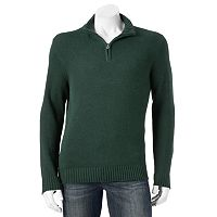 Big & Tall Croft & Barrow® Classic-Fit 5gg Quarter-Zip Sweater