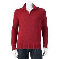 Big & Tall Croft & Barrow® Classic-Fit 5gg Quarter-Zip Sweater