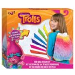 Dreamworks Trolls Faux-Fur Drawstring Bag Design Kit