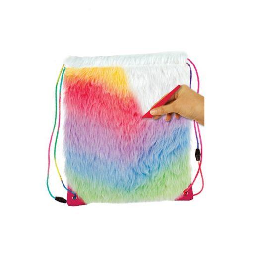 Dreamworks Trolls Faux-Fur Drawstring Bag Design Kit