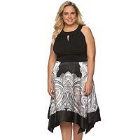 Plus Size Chaya Hankerchief Hem Dress