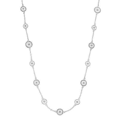 Dana Buchman Long Openwork Medallion Station Necklace