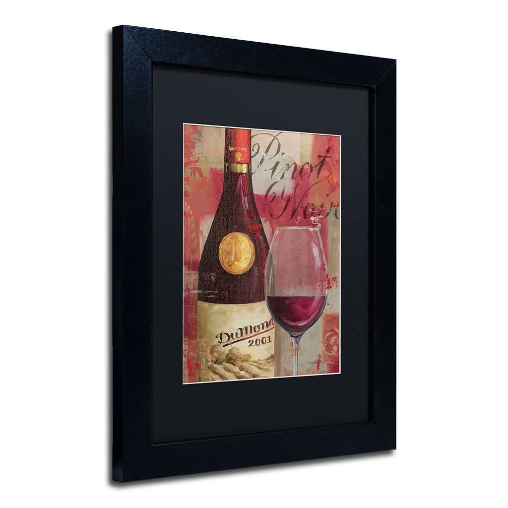 Trademark Fine Art Vin Abstract I Black Framed Wall Art