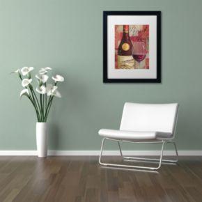 Trademark Fine Art Vin Abstract I Black Framed Wall Art