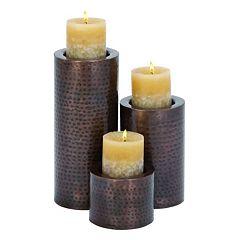 Hammered Candle Holder 3 pc Set