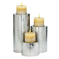 Hammered Candle Holder 3 pc Set