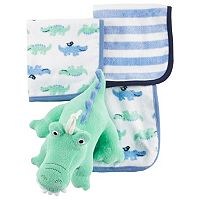 Baby Carter's 3 pkWashcloths & Plush Toy Set