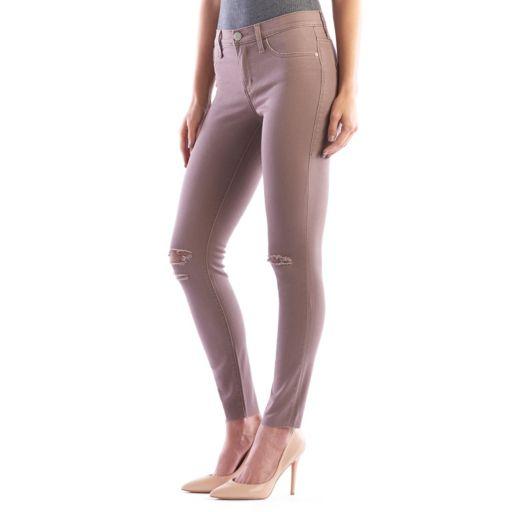Women's Rock & Republic® Kashmiere Ripped Khaki Leggings