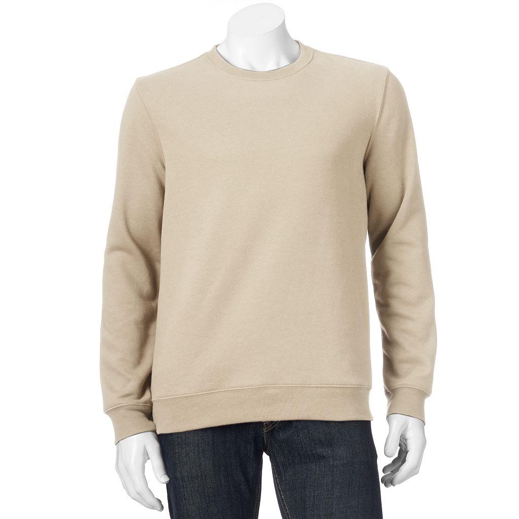 Men's Croft & Barrow® Easy-Care Fleece Crewneck Sweatshirt