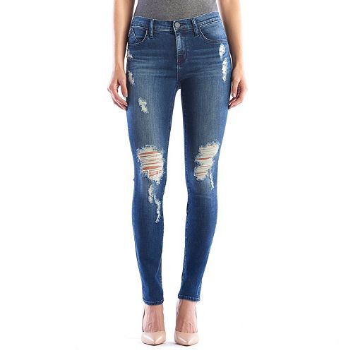 Women's Rock & Republic® Berlin Ripped Midrise Skinny Jeans