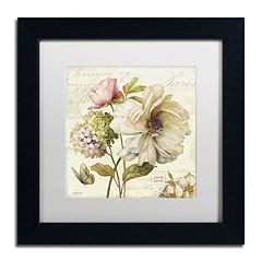 Trademark Fine Art Marche de Fleurs II White Matted Framed Wall Art