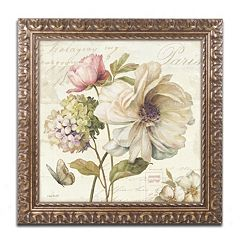 Trademark Fine Art Marche de Fleurs II Ornate Framed Wall Art