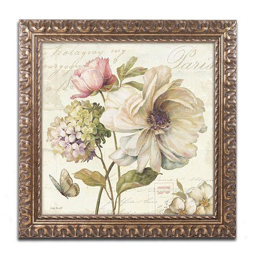 Trademark Fine Art Marche de Fleurs II Ornate Framed Wall Art