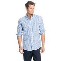 Men's IZOD Slim-Fit Essential Tattersal Button-Down Shirt