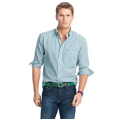 Men's IZOD Slim-Fit Essential Tattersal Button-Down Shirt