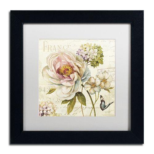 Trademark Fine Art Marche de Fleurs III White Matted Framed Wall Art