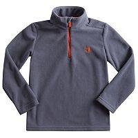 Toddler Boy Chaps Mockneck 1/4-Zip Microfleece Pullover