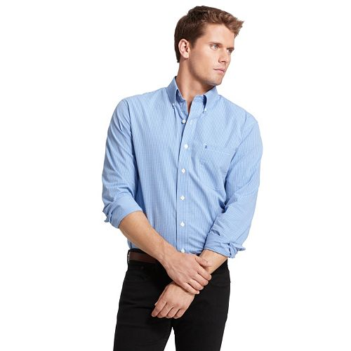 Men's IZOD Checked Casual Slim-Fit Button-Down Shirt
