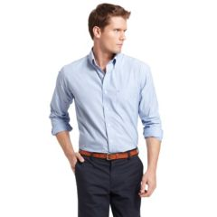 Blue IZOD Button-Down Shirts Casual Woven | Kohl's