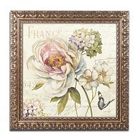 Trademark Fine Art Marche de Fleurs III Ornate Framed Wall Art