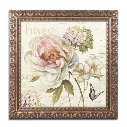 Trademark Fine Art Marche de Fleurs III Ornate Framed Wall Art