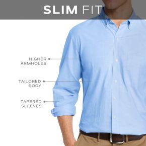 Men's IZOD Striped Casual Slim-Fit Button-Down Shirt