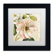 Trademark Fine Art Les Jardin II White Matted Framed Wall Art