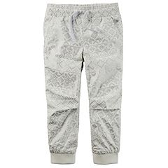 Girls 4-8 Carter's Poplin Jogger Pants