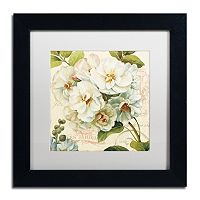 Trademark Fine Art Les Jardin III White Matted Framed Wall Art