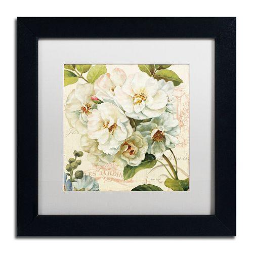 Trademark Fine Art Les Jardin III White Matted Framed Wall Art