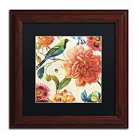 Trademark Fine Art Rainbow Garden II Natural Framed Wall Art