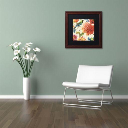Trademark Fine Art Rainbow Garden II Natural Framed Wall Art