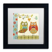 Trademark Fine Art Owl Wonderful I Framed Wall Art