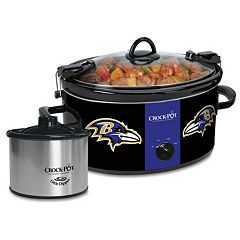 Crock-Pot Cook & Carry Baltimore Ravens 6-Quart Slow Cooker Set