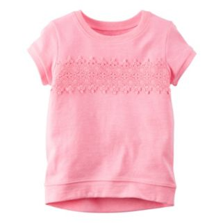 Girls 4-8 Carter's Crochet Lace Front Top