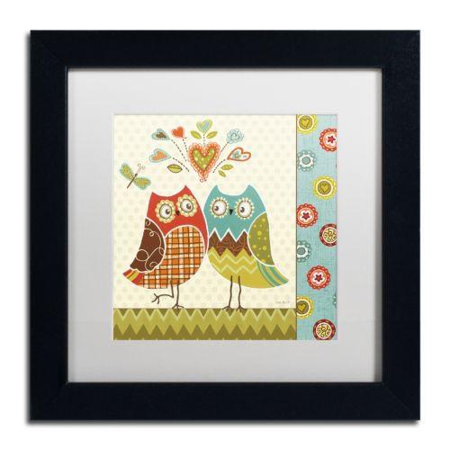 Trademark Fine Art Owl Wonderful II Black Framed Wall Art
