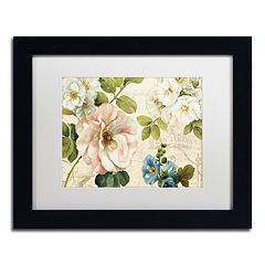 Trademark Fine Art Les Jardin I Black Framed Wall Art