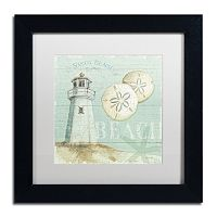 Trademark Fine Art Beach House I Black Framed Wall Art