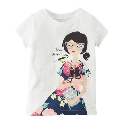 Girls 4-8 Carter's Girly Graphic Short Sleeve Tee