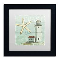 Trademark Fine Art Beach House II Black Framed Wall Art