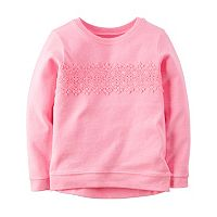 Girls 4-8 Carter's Lace Applique Pullover Top