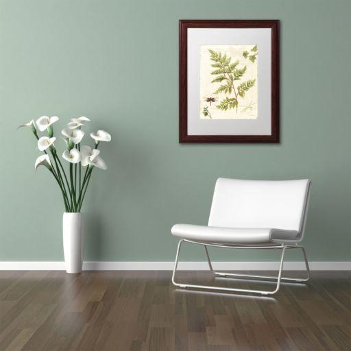 Trademark Fine Art Ivies and Ferns I Wood Finish Framed Wall Art